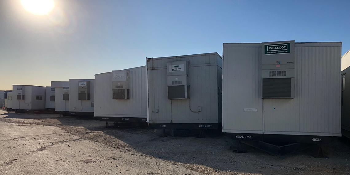 mobile office trailers at WillScot Austin, TX