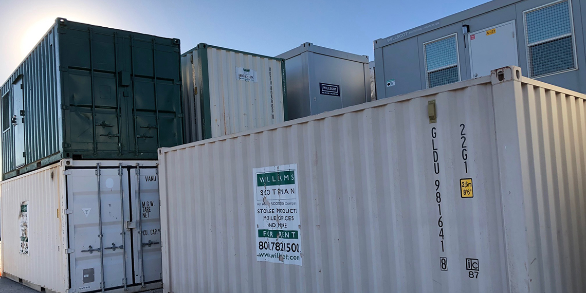 storage containers and modular buildings at WillScot Austin, TX