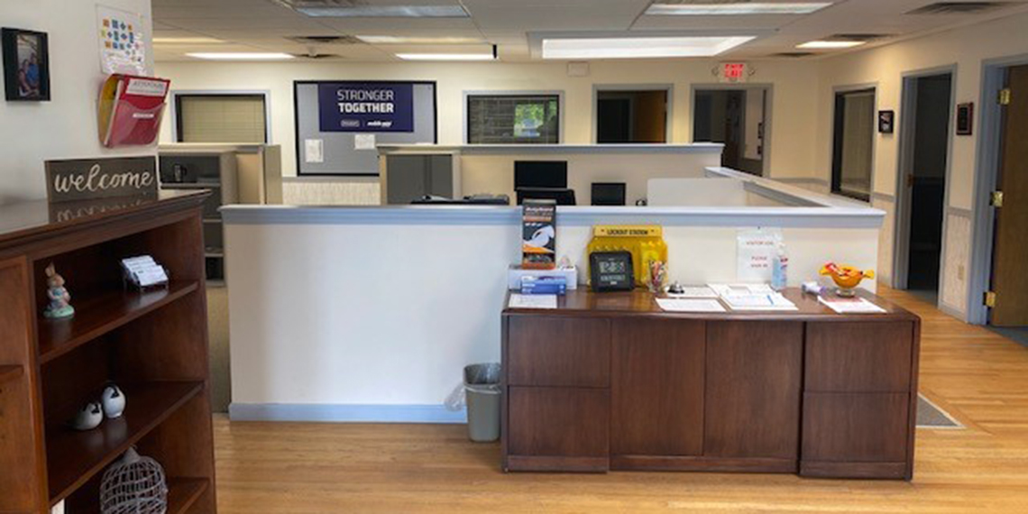 Interior image of WillScot Boston, MA office