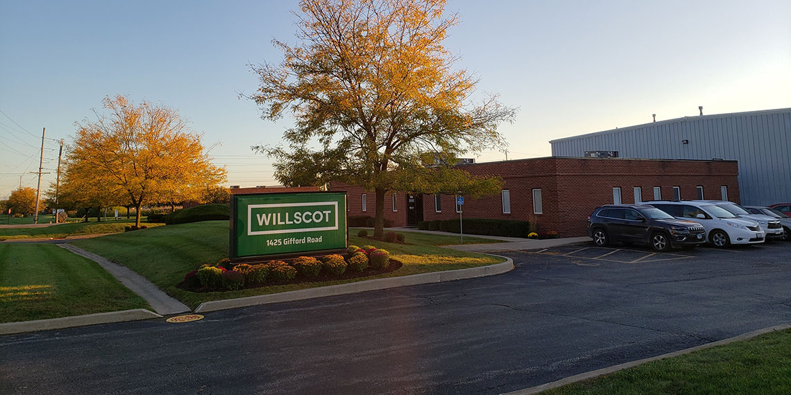 front entrance to WillScot Chicago, IL office