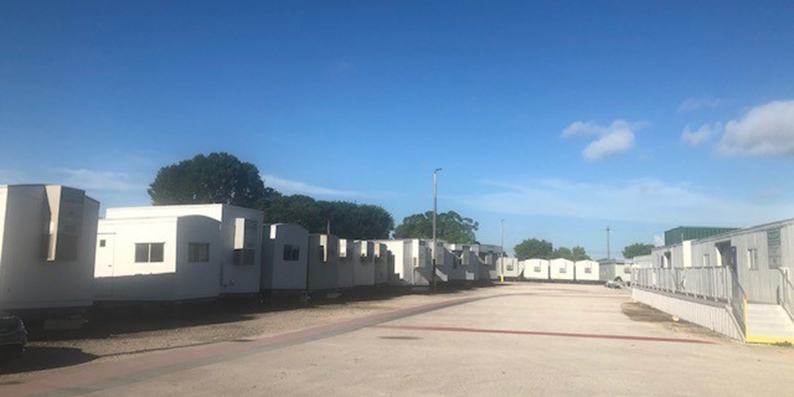mobile office trailers in the yard at WillScot Fort Lauderdale, FL