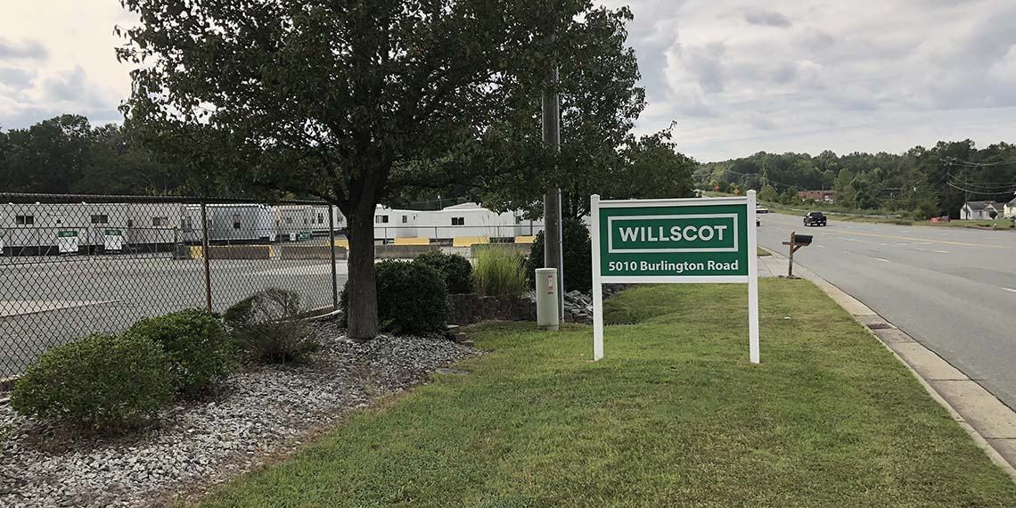 WillScot signage in Greensboro, NC