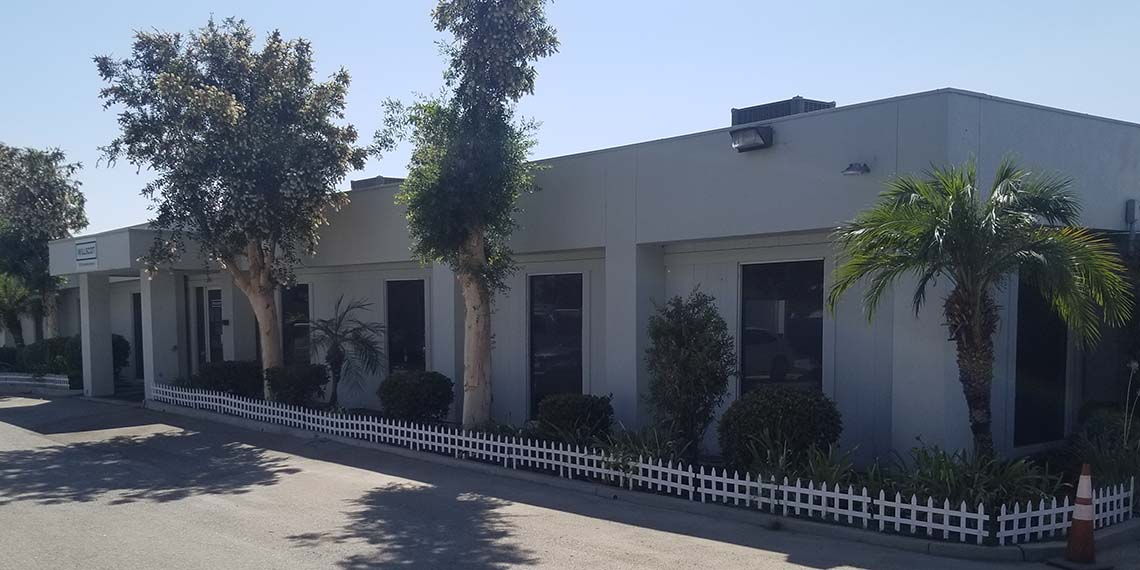a close up of the exterior of the WillScot Los Angeles, CA office
