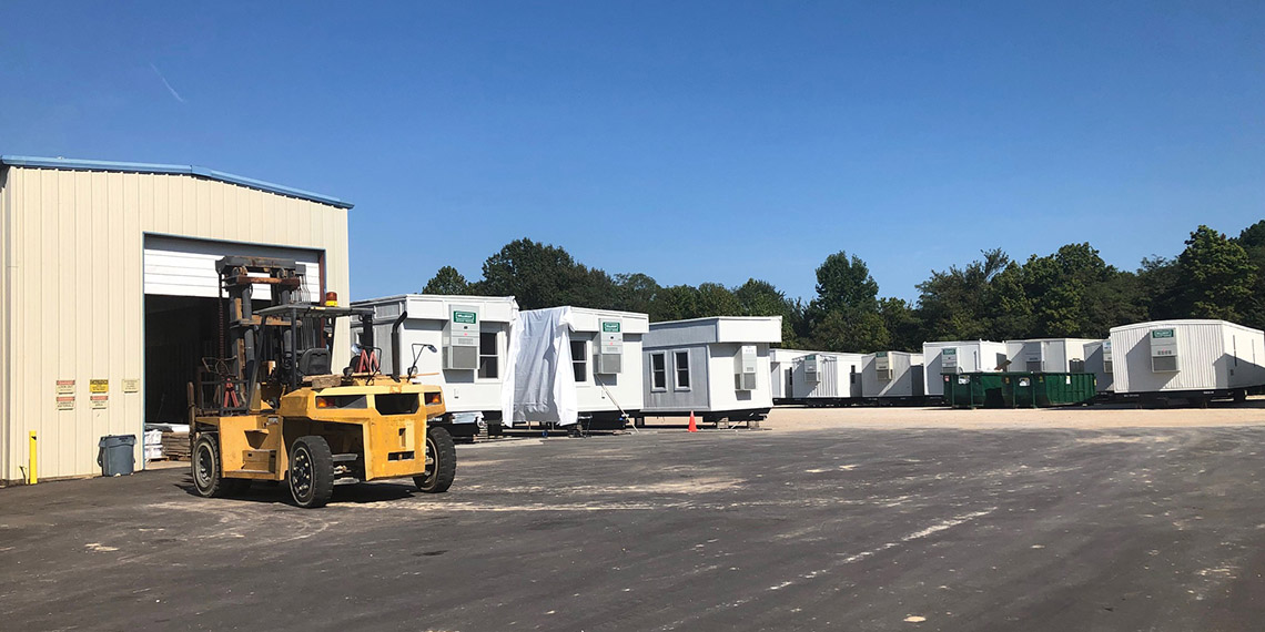 various mobile office trailers at WillScot Memphis, TN