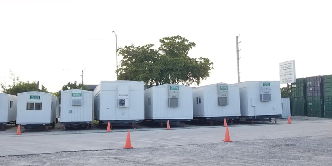 mobile office trailers for sale at WillScot Miami, FL
