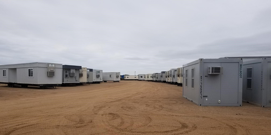 various mobile office trailers at WillScot Minneapolis, MN