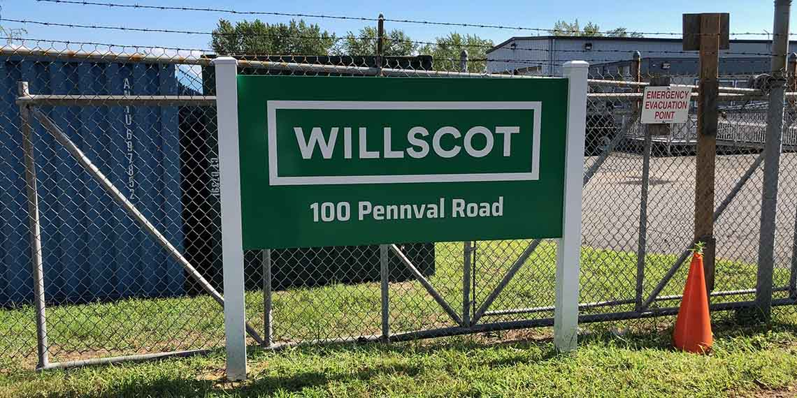 WillScot signage in South New York City