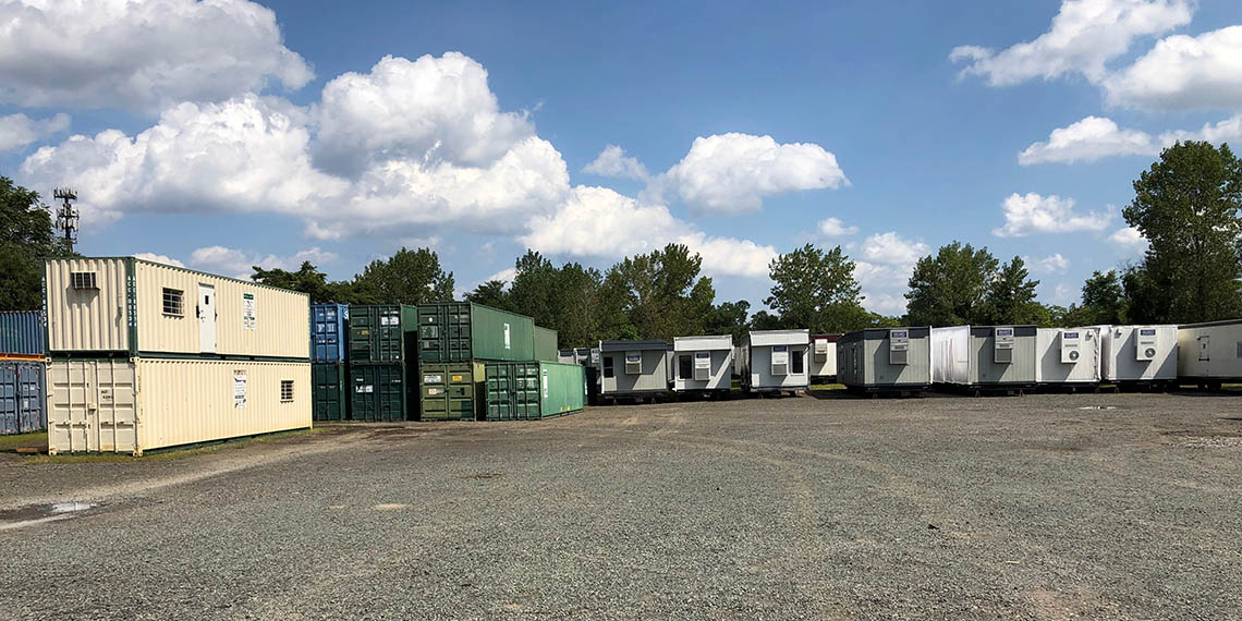 mobile office trailers and storage containers at WillScot South New York