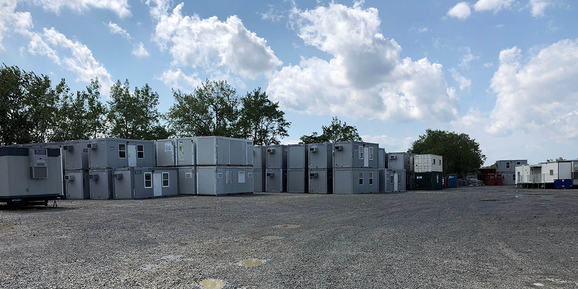 stacked FLEX units at WillScot South New York City