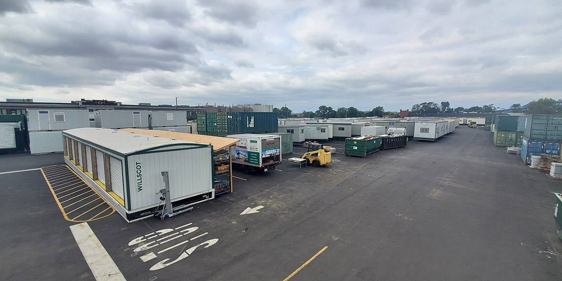 mobile office trailers and storage containers at WillScot New York, NY