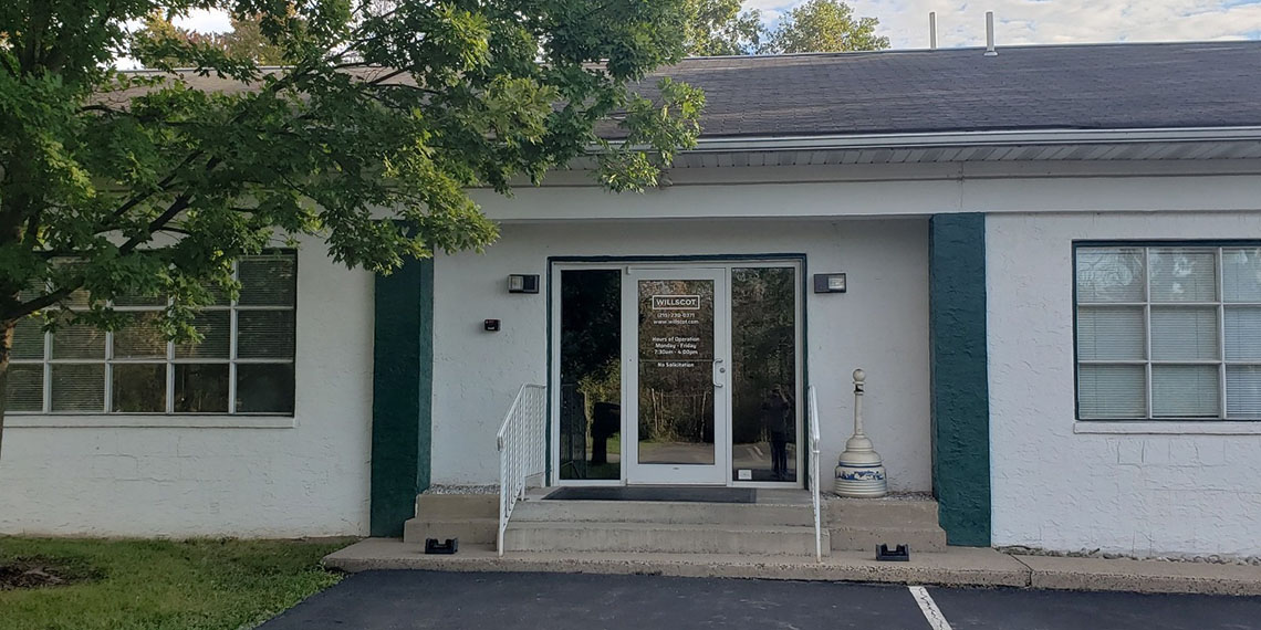the exterior entrance of the WillScot North Philadelphia, PA office
