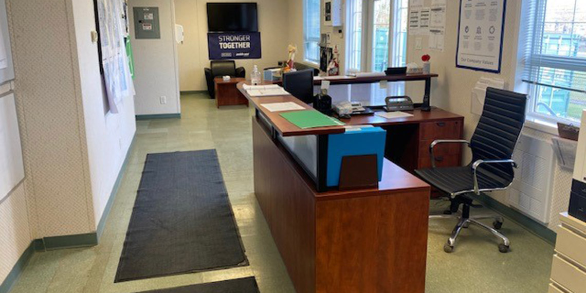 the front desk of the WillScot Regina office