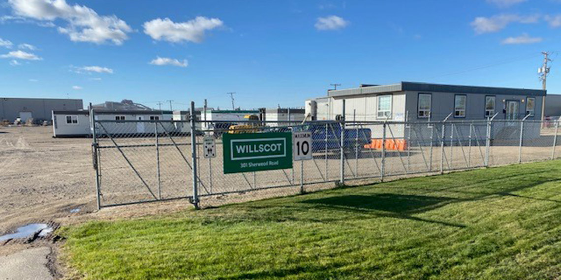 the front gate of the WillScot Regina office