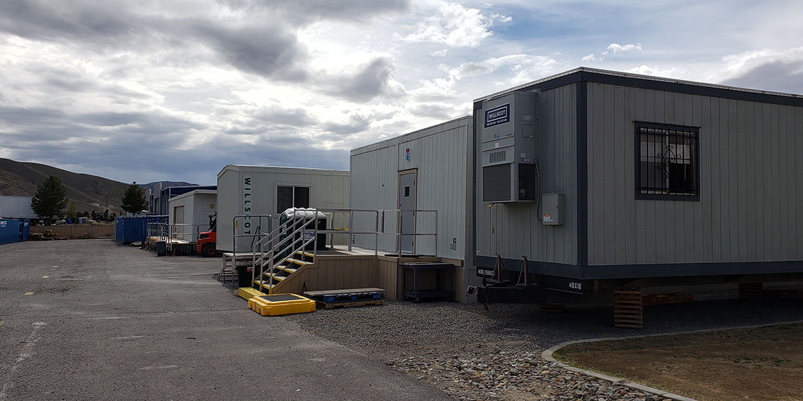 mobile office trailer with steps at WillScot Reno, NV