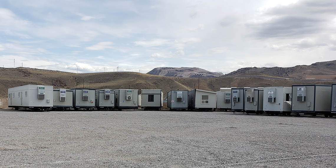 various mobile office trailers at WillScot Reno, NV