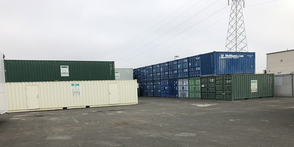 storage and office containers at the WillScot San Francisco, CA location
