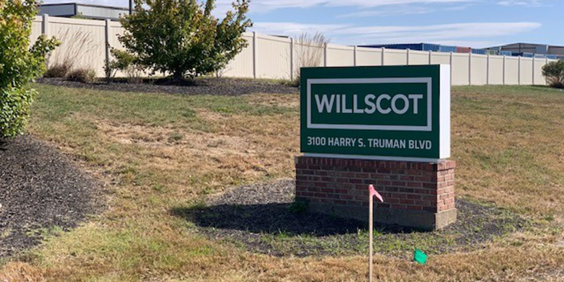 WillScot signage in St. Louis, MO