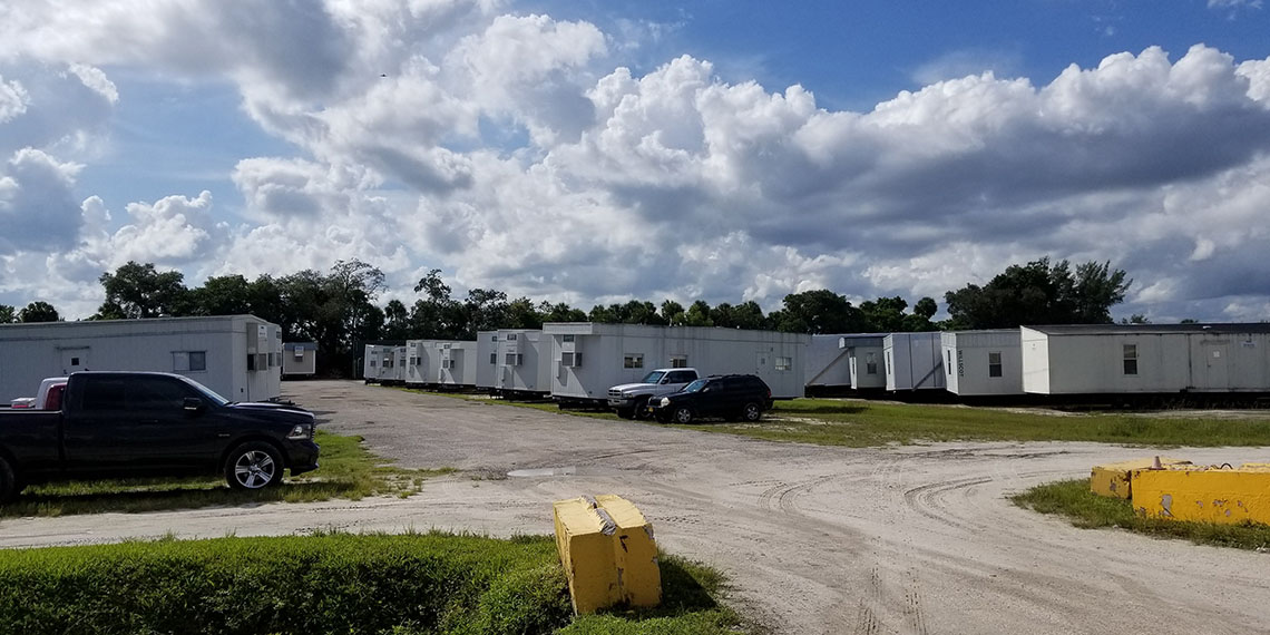 mobile office trailers at WillScot West Palm Beach, FL