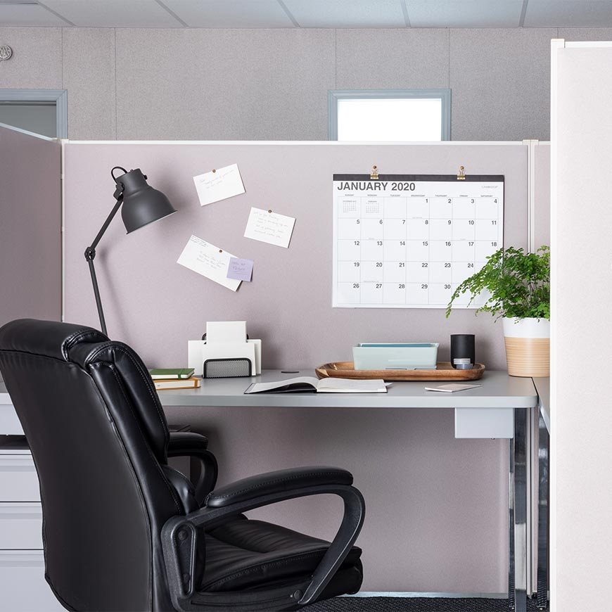 premium cubicle workstation inside of a modular office
