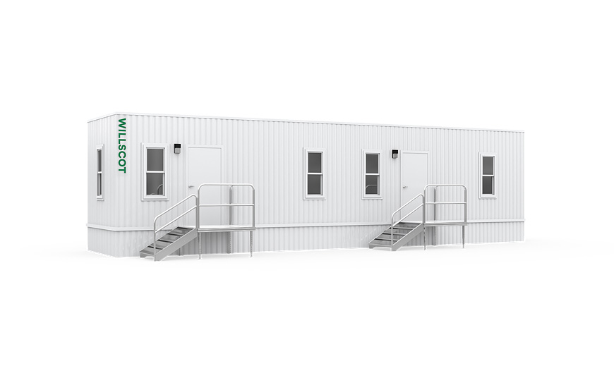 44' x 10' Office Trailers - WillScot Mobile Offices Rail End Cap For Mobile Home on rod end cap, wood end cap, post end cap, pipe end cap, wall end cap, electrical end cap, design end cap, cable end cap, retail end cap, steel end cap,